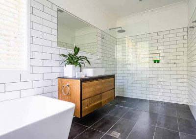 bathroom renovation in mcdowall with Avocado Constructions