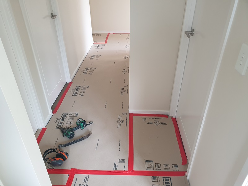 home renovation ram board protection with Avocado Constructions