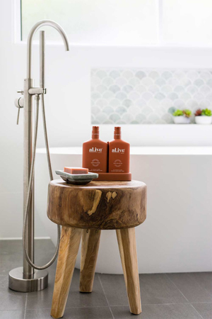 brushed nickle bath set and tapware tips from Avocado Constructions Brisbane