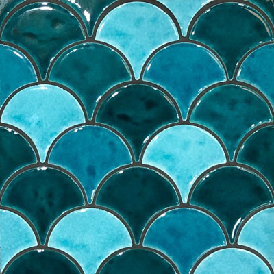 beaumont fishscale aqua tiles recommended by Avocado Constructions Brisbane
