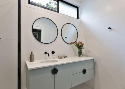 custom vanity design red hill bathroom renovation with Avocado Constructions
