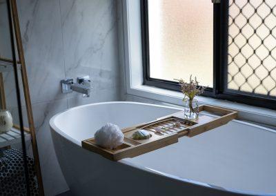 freestanding bath for bathroom renovation with Avocado Constructions