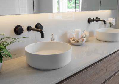 his and hers vanity in wilston bathroom renovaiton with Avocado Constructions brisbane