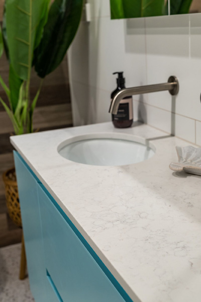 arana hills bathroom renovation vanity design by avocado constructions