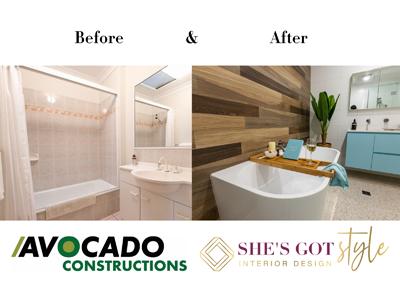 arana hills coastal bathroom renovation before and after from avocado constructions