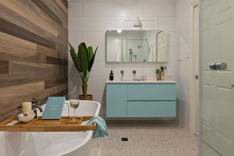 coastal bathroom renovation in arana hills by avocado constructions