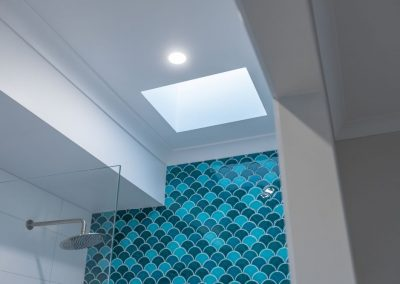 Babylon Beaumont Tiles Fishscale Feature Wall and Skylight